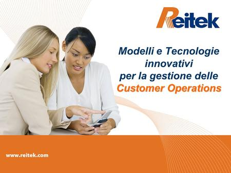 Customer Operations Modelli e Tecnologie innovativi per la gestione delle Customer Operations.
