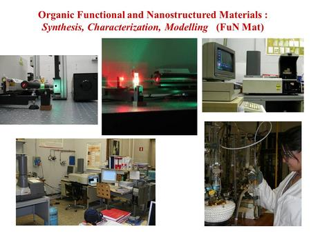 Organic Functional and Nanostructured Materials : Synthesis, Characterization, Modelling (FuN Mat)