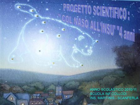 PROGETTO SCIENTIFICO :