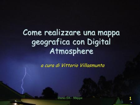 Come realizzare una mappa geografica con Digital Atmosphere