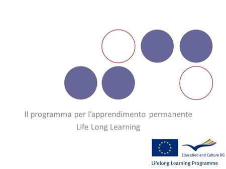 Il programma per lapprendimento permanente Life Long Learning.