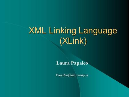 XML Linking Language (XLink)