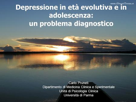 Depressione in età evolutiva e in adolescenza un problema diagnostico