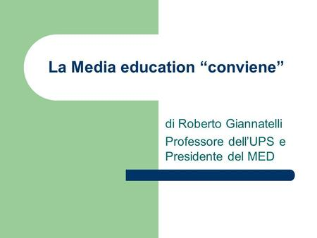 "La Media education ""conviene"""