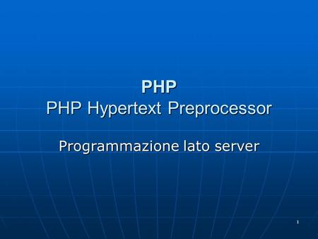 PHP PHP Hypertext Preprocessor