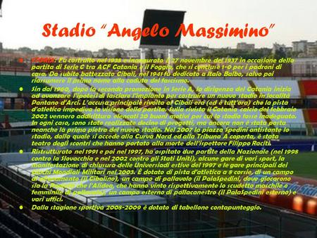 "Stadio ""Angelo Massimino"""