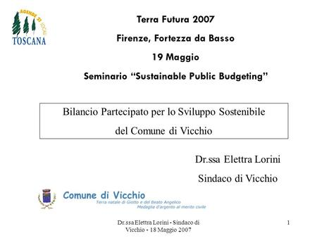 "Firenze, Fortezza da Basso Seminario ""Sustainable Public Budgeting"""