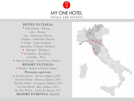 HOTEL IN ITALIA: RESORT IN ITALIA: Prossime aperture:
