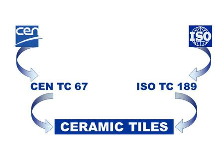 CEN TC 67 ISO TC 189 CERAMIC TILES.