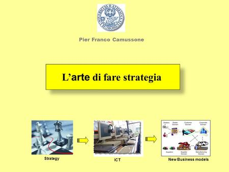 L arte di fare strategia Strategy ICT New Business models Pier Franco Camussone.