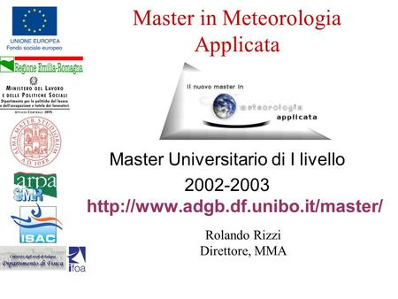 Master in Meteorologia Applicata