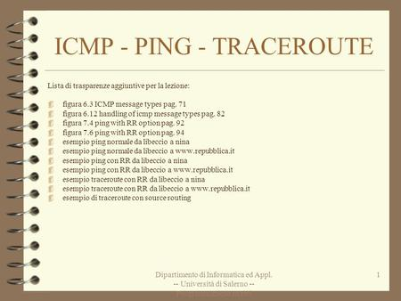 ICMP - PING - TRACEROUTE