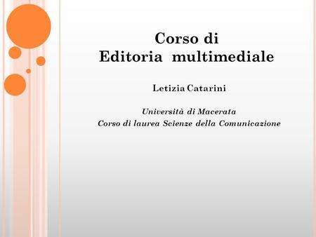 Come scrivere una tesi di laurea ppt scaricare for Design della comunicazione universita