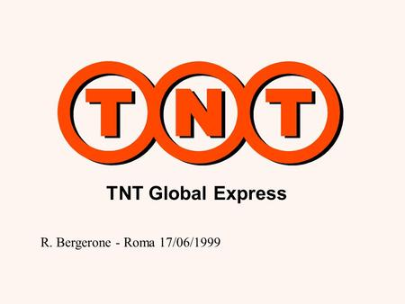 TNT Global Express R. Bergerone - Roma 17/06/1999.