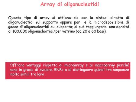 Array di oligonucleotidi