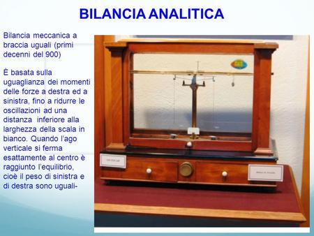 Bilancia analitica meccanica