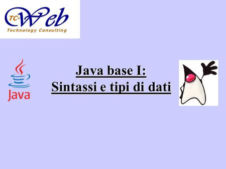 Java base I: Sintassi e tipi di dati