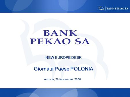 NEW EUROPE DESK Giornata Paese POLONIA