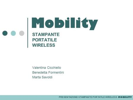 STAMPANTE PORTATILE WIRELESS