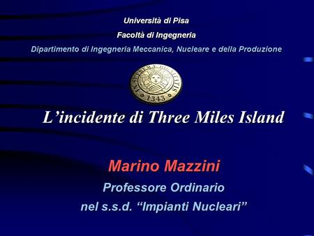 L'incidente di Three Miles Island