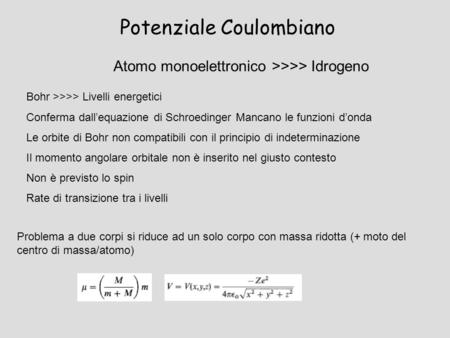 Potenziale Coulombiano