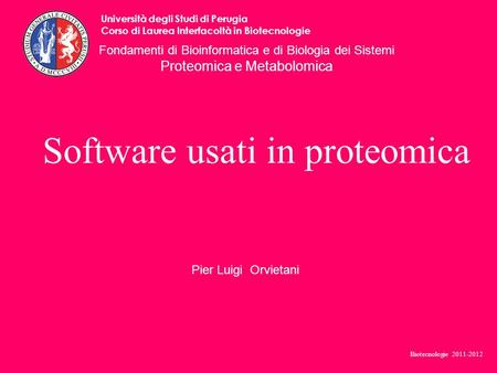 Software usati in proteomica
