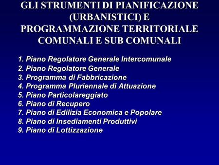 1. Piano Regolatore Generale Intercomunale 2
