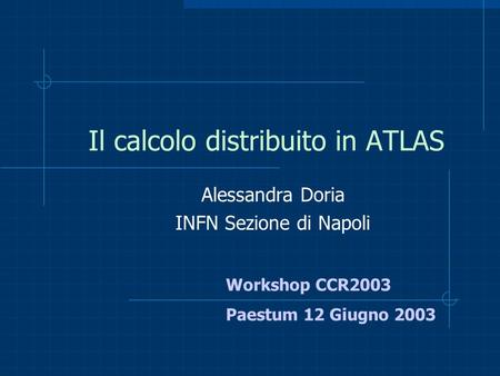 Il calcolo distribuito in ATLAS