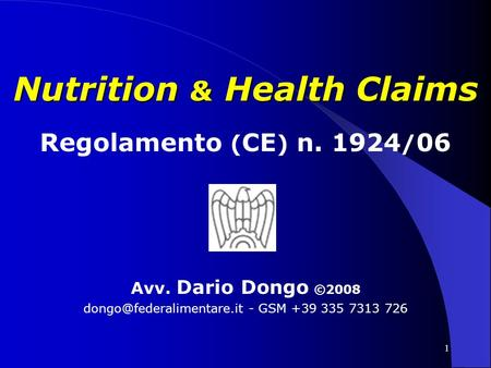 Nutrition & Health Claims