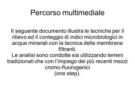 Percorso multimediale