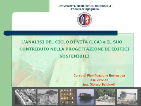 Universita degli studi di palermo facolta di ingegneria for Progettazione di edifici economica