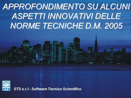 STS s.r.l - Software Tecnico Scientifico
