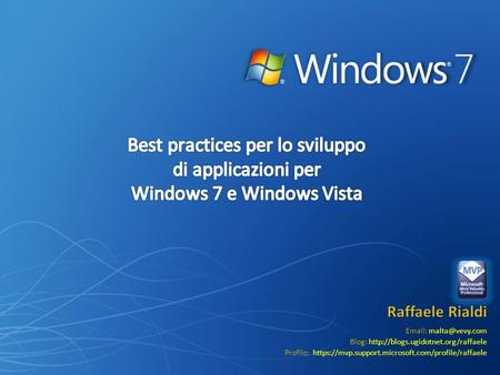 Blog:  Profilo: https://mvp.support.microsoft.com/profile/raffaele.