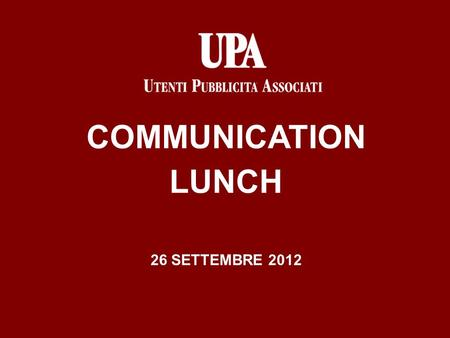COMMUNICATION LUNCH 26 SETTEMBRE 2012. Due tipi di responsabilità del committente per inadempimenti nei confronti di terzi appartenenti a categorie «qualificate»