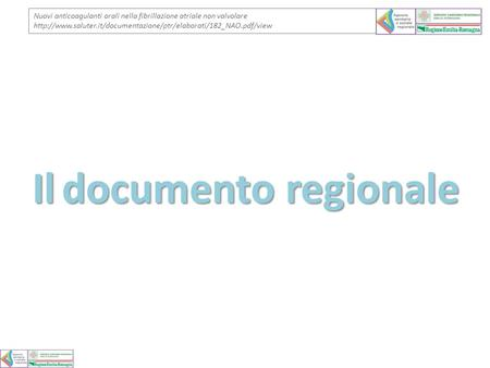 Il documento regionale