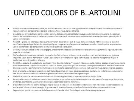 UNITED COLORS OF B..ARTOLINI