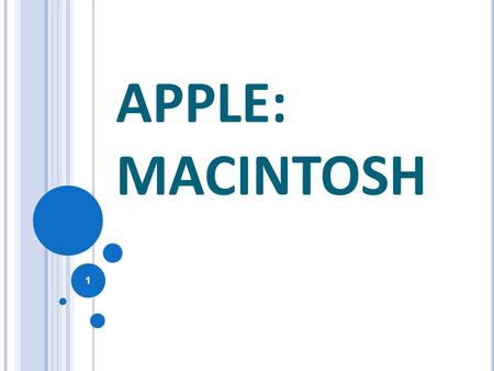 APPLE: MACINTOSH.