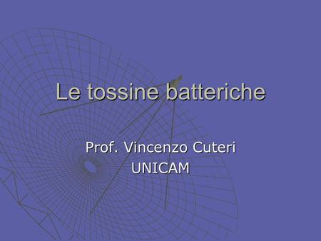 Prof. Vincenzo Cuteri UNICAM