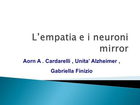 L'empatia e i neuroni mirror