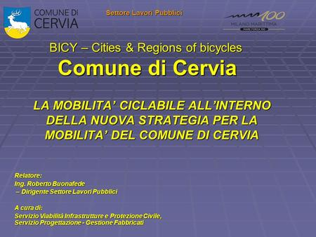 BICY – Cities & Regions of bicycles Comune di Cervia