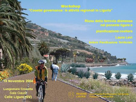 "Workshop ""Coastal governance: le attività regionali in Liguria"""