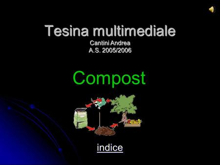 Tesina multimediale Cantini Andrea A.S. 2005/2006 indice Compost.