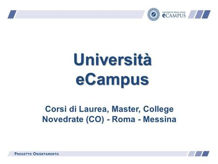 Università eCampus Corsi di Laurea, Master, College Novedrate (CO) - Roma - Messina.