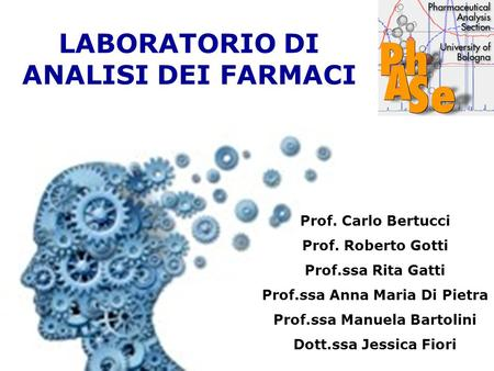 LABORATORIO DI ANALISI DEI FARMACI
