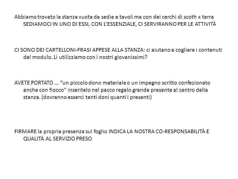 LANCIO MODULI ACG Modulo FRATERNITÀ STRADA FACENDO 5 dicembre 2011