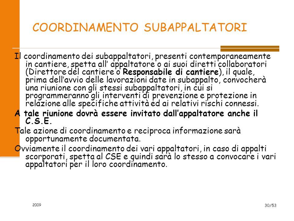 AZIONI PER IL COORDINAMENTO DELLA SICUREZZA IN FASE DI ESECUZIONE DELL'OPERA Le funzioni del coordinatore per l'esecuzione si possono riassumere in 7 azioni fondamentali: 1)Valutazione preliminare del Piano di Sicurezza e Coordinamento 2)Riunione preliminare all'inizio dei lavori 3)Verifica dei Piani Operativi di Sicurezza e della documentazione degli esecutori 4)Riunioni di coordinamento 5)Sopralluoghi e controlli 6)Coordinamento degli RLS e RLST 7)Aggiornamento documenti di sicurezza.
