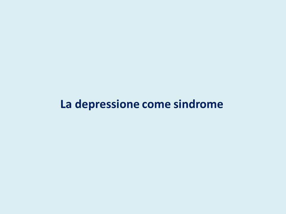 EPIDEMIOLOGIA della Depressione Prevalenza 9-20% Rischio di ammalarsi F/M=2-3/1 Rischio aumentato nei soggetti con parenti di 1 grado affetti da disturbi affettivi Incremento di incidenza con l età e picco verso i 40 anni