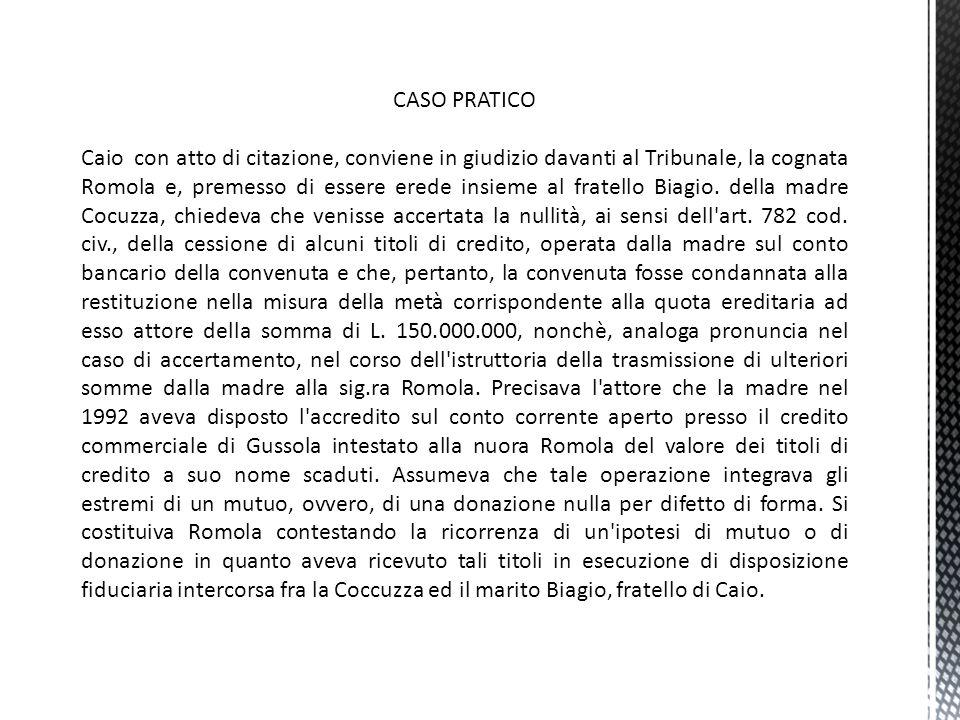 I PRINCIPI ESPRESSI DA CASS.27/08/2012 N.