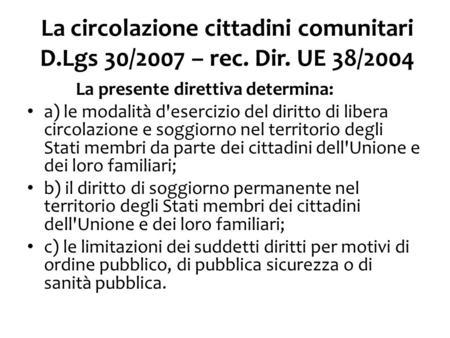 1 CITTADINI COMUNITARI ISCRIZIONE ANAGRAFICA E ATTESTATI Mauro ...