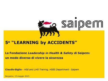 "5o ""LEARNING by ACCIDENTS"""
